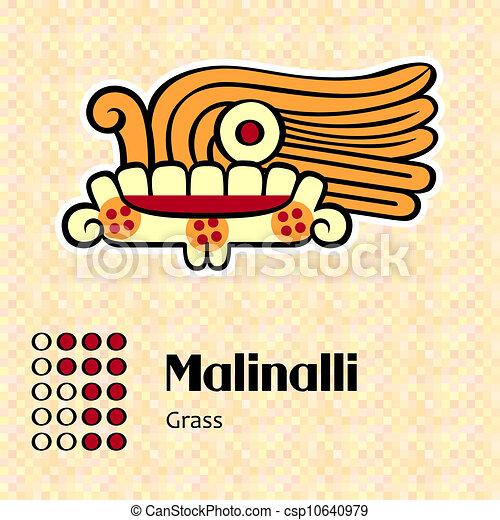 Aztec symbol Malinalli - csp10640979