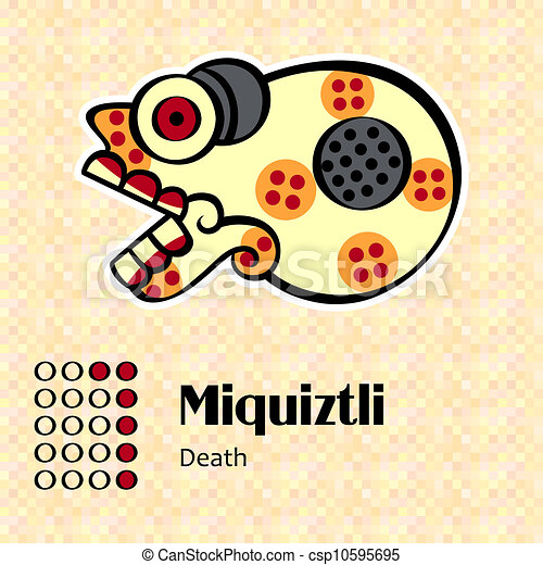 Aztec symbol Miquiztli - csp10595695