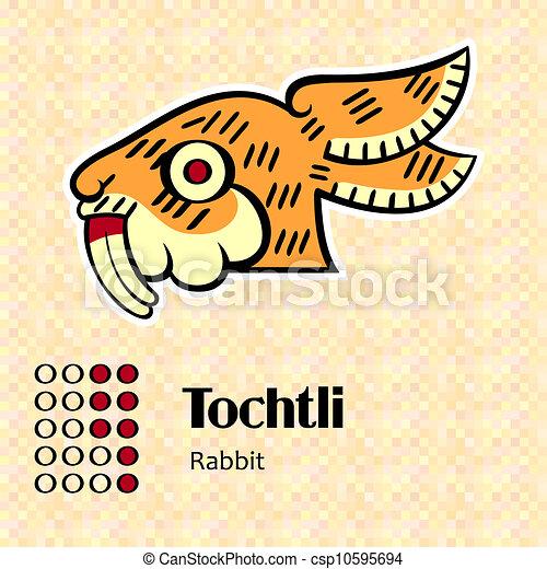 Aztec symbol Tochtli - csp10595694