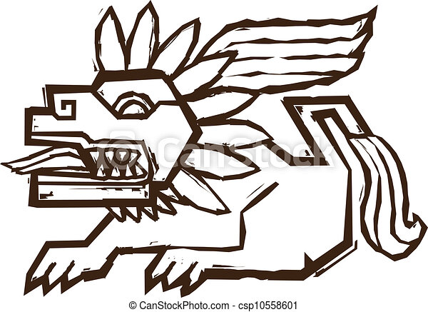 aztec winged lion ancient image of a mythological lion vector rh canstockphoto com aztec calendar clipart aztec arrow clipart