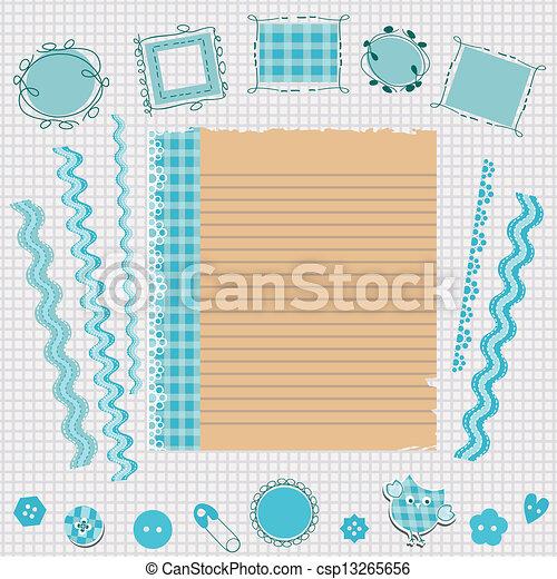 Kit de álbumes azules - csp13265656