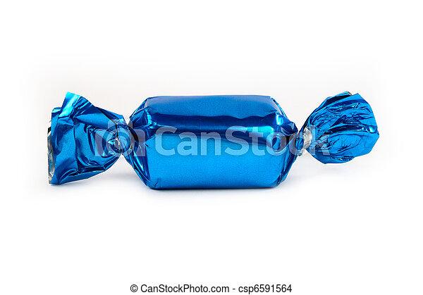 azul, único, isolado, doce - csp6591564