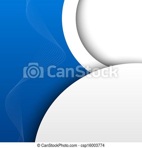 azul, abstratos, fundo, 3d - csp16003774