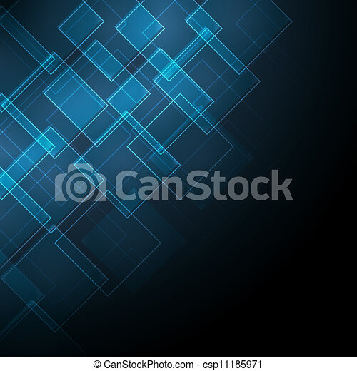 azul, abstratos, fundo - csp11185971