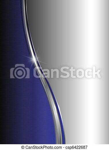 azul, abstratos, fundo - csp6422687