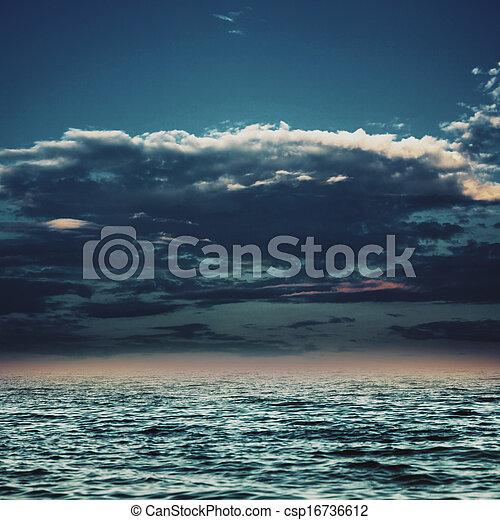 azul, abstratos, fundos, desenho, sob, céus, marinho, seu - csp16736612