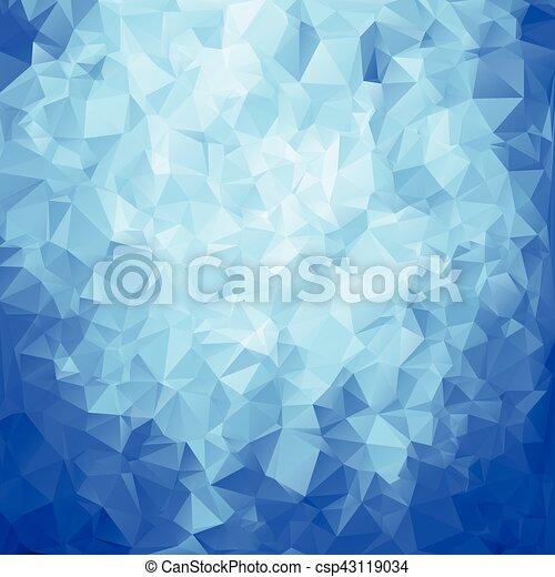 azul, abstratos, polígono, textura - csp43119034