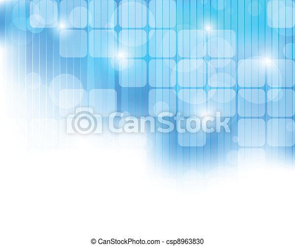azul, abstratos, tech, fundo - csp8963830