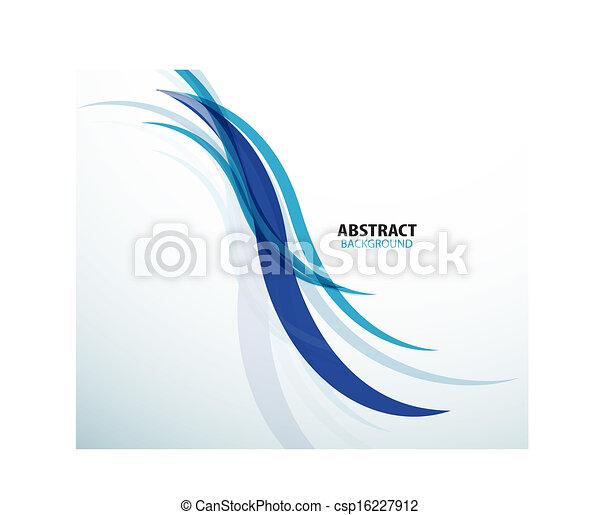 azul, abstratos, tecnologia, fundo, onda - csp16227912