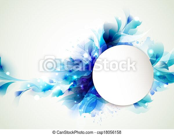 azul, abstratos - csp18056158