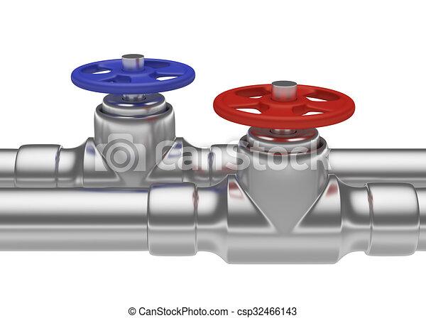 Azul acero tubos rojo v lvulas azul acero tuber a for Tubo corrugado rojo precio