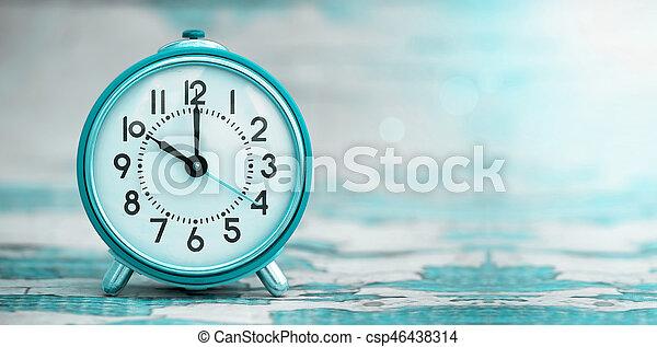 Pancarta de alarma azul - csp46438314