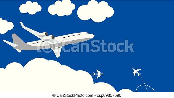 azul, apartamento, ilustração, experiência., vetorial, avião, ícone - csp69857590
