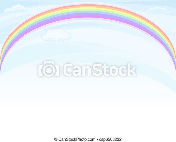 Arcoíris sobre el cielo azul - csp6508232