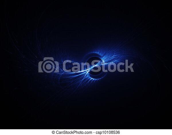 Rayos azules del arco iris - csp10108536