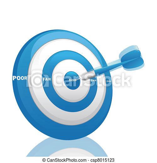 azul, avaliação, dardo - csp8015123