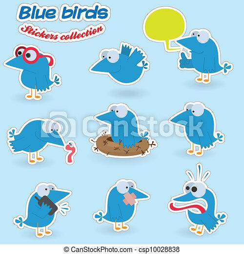 Pájaros azules - csp10028838