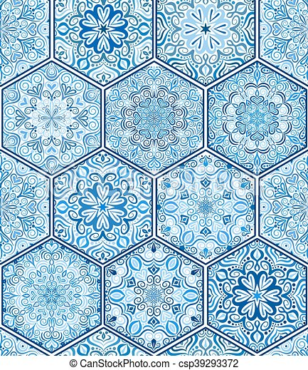Azul azulejo a il tela azul cuadrado a il boho for Azulejo azul