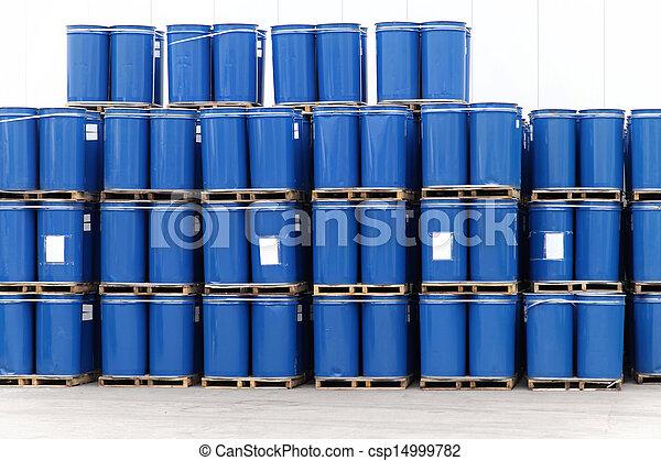 azul, barriles - csp14999782