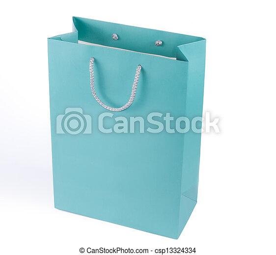 Bolsa azul turquesa - csp13324334