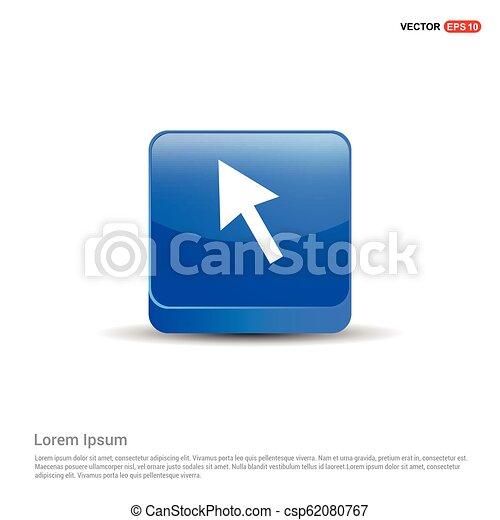 El icono de la maldición - 3D botón azul - csp62080767