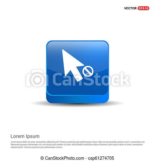 El icono de la maldición - 3D botón azul - csp61274705