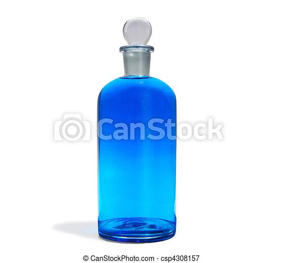 azul, botella, a05 - csp4308157