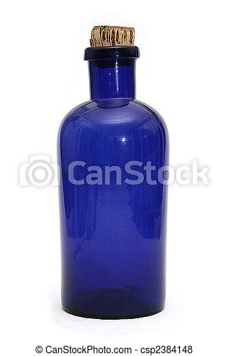 azul, botella, farmacia - csp2384148