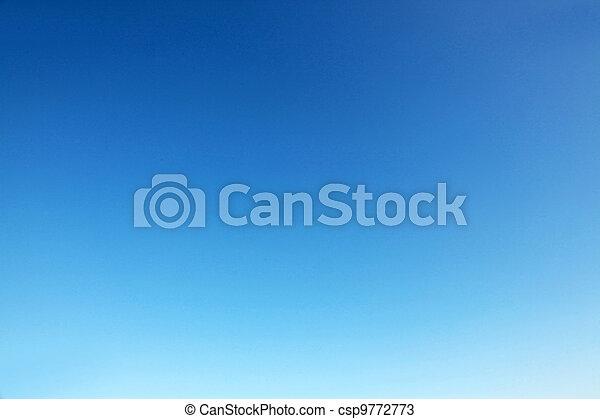azul, céu claro - csp9772773