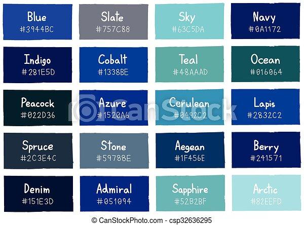 tonos de azul y sus nombres
