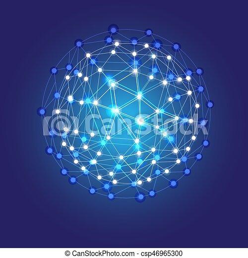 Red cósmica brillante azul - csp46965300