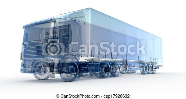 Camión de rayos X azul - csp17926632