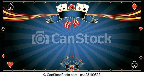 Casino azul de tarjeta de felicitación - csp28199533