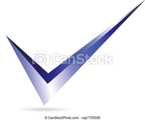 Marca azul - csp7105336