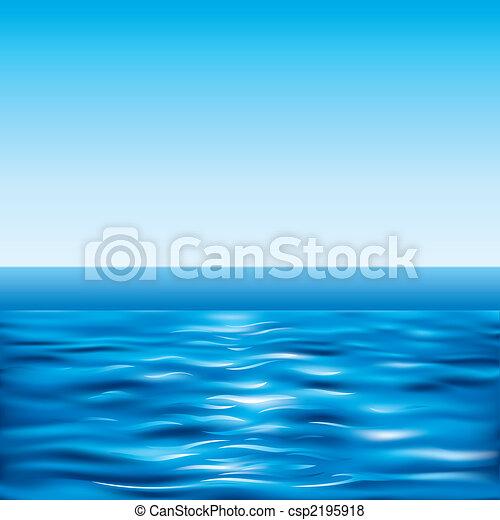 Mar azul y cielo despejado - csp2195918