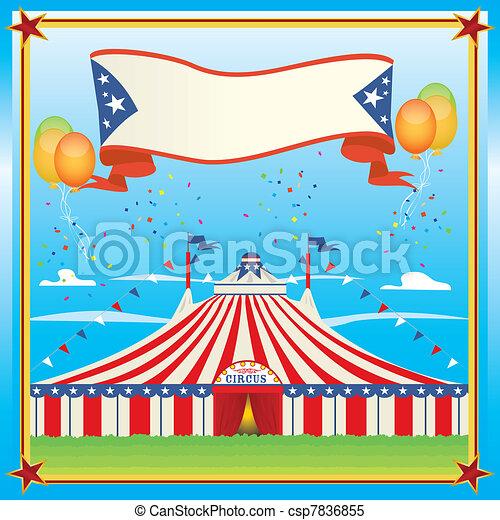 Un circo rojo y azul - csp7836855