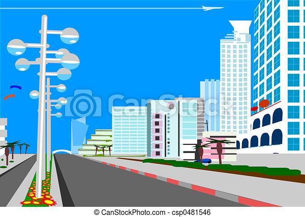 Ciudad Azul - csp0481546