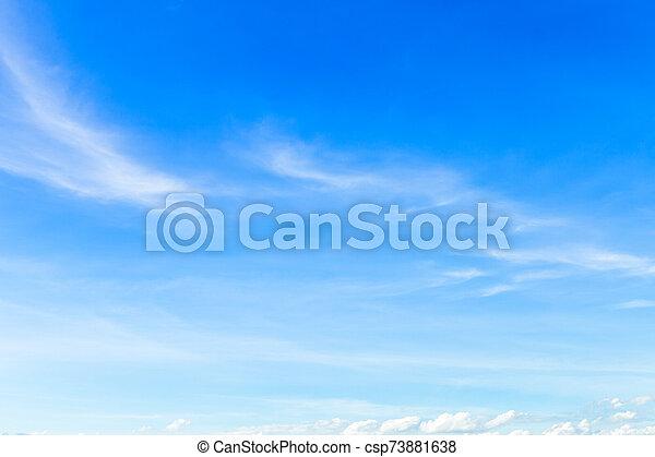 azul, clouds., cielo blanco, plano de fondo, textura - csp73881638