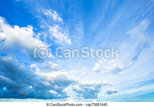 azul, clouds., cielo blanco, plano de fondo, textura - csp73881640