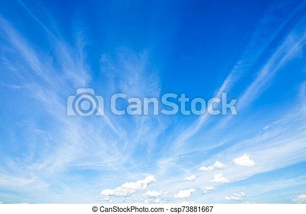 azul, clouds., cielo blanco, plano de fondo, textura - csp73881667