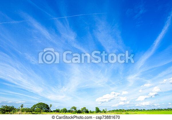 azul, clouds., cielo blanco, plano de fondo, textura - csp73881670