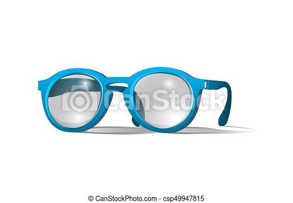 azul, colorido, óculos - csp49947815