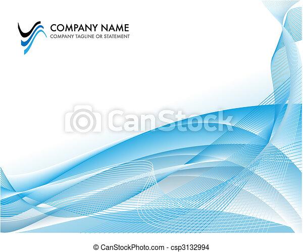 azul, conceito, fundo, negócio, -, oceânicos, luminoso, modelo, incorporado - csp3132994