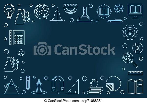 El Concepto De Educación Vector Azul Moderno Estructura