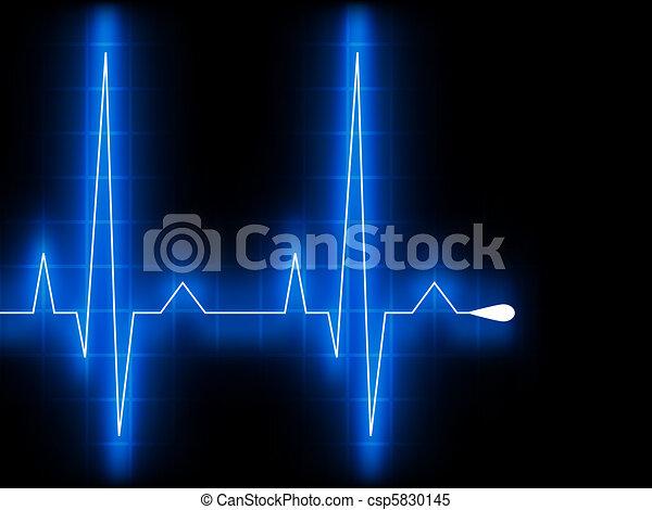 Latido de corazón azul. Ekg graph. EPS 8 - csp5830145