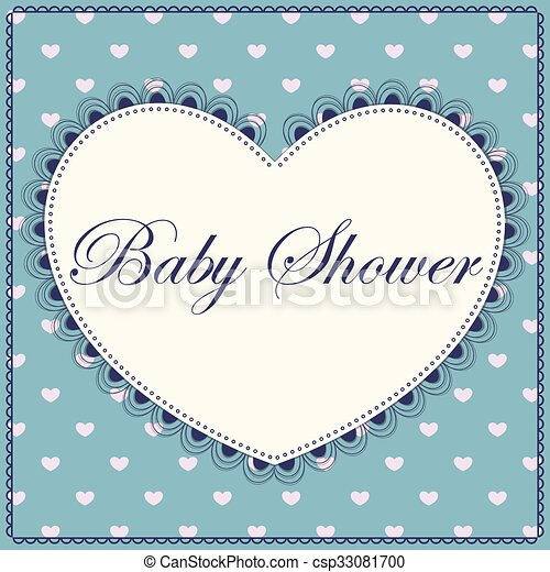 azul, corazón, fiesta de nacimiento, vendimia - csp33081700
