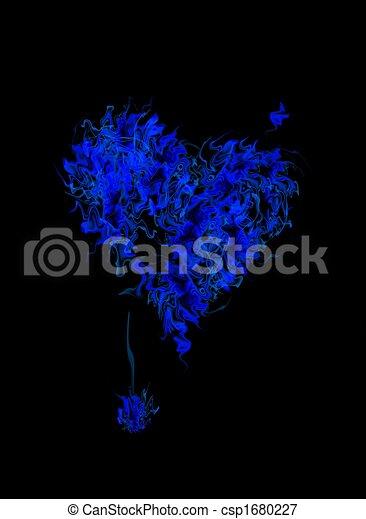Corazón ardiente azul - csp1680227
