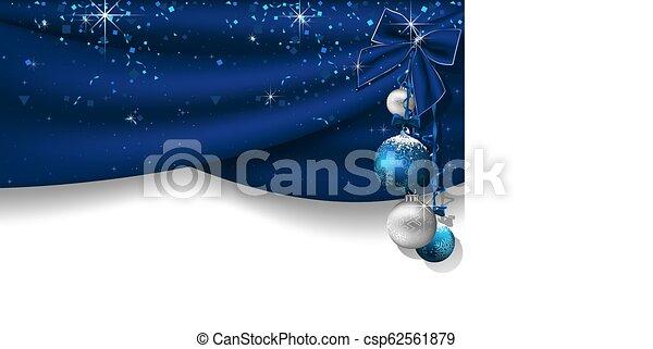 azul, cortinas, natal, fundo - csp62561879