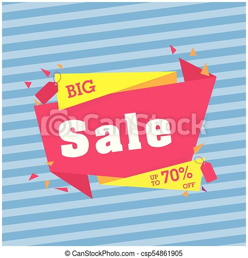 Gran venta hasta un 70% de descuento en la imagen de vector azul origami - csp54861905
