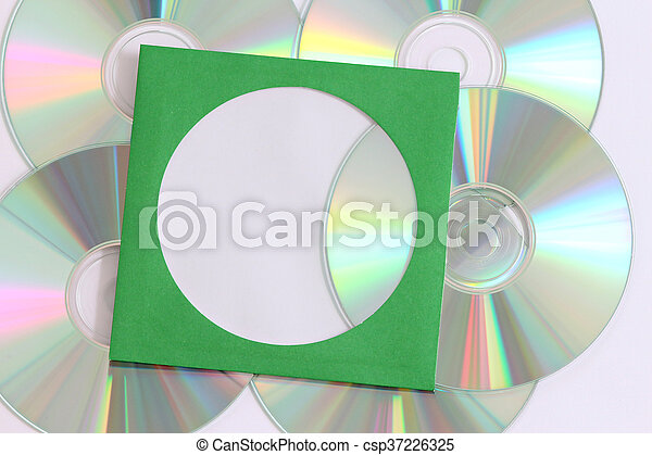 Disco cd dvd blue Ray - csp37226325